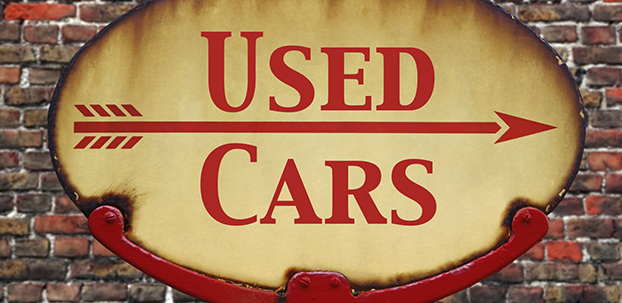 Retro sign Used cars