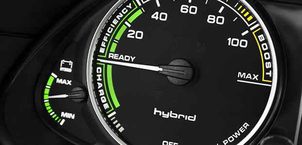 Hybrid car instrument cluster